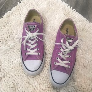 Converse all star light purple sneakers